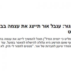 בלי סנגור: ענבל אור תייצג את עצמה בבית המשפט